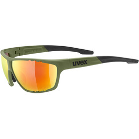 UVEX Sportstyle 706 Sportsbriller, olive/red